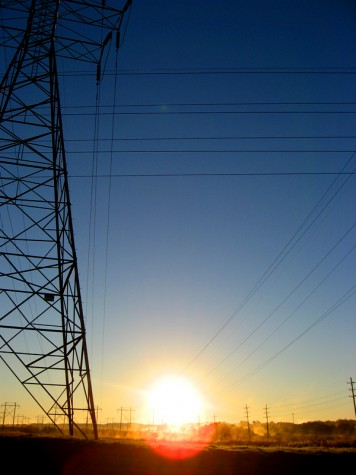 The Muskegon Causeway power lines appear to be tapping into solar power