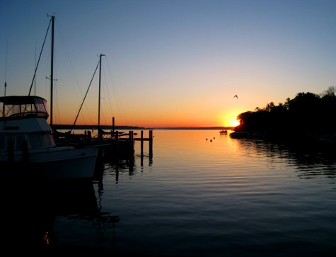 The sunrise as seen from the White Lake Yacht Club on May 25, 2008