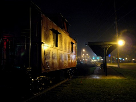 Behind the train depot in downtown Muskegon on Christmas morning in 2006