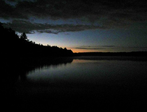 From the north shore of Muskegon County's Duck Lake just before dawn