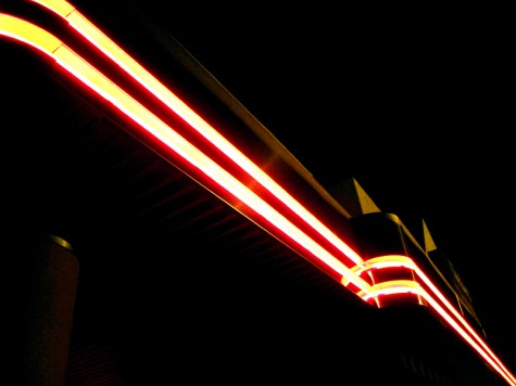 The neon signs on a burger shop on Muskegon's Laketon Avenue