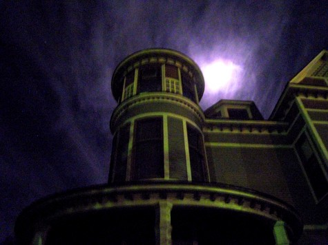 This is the turret of an old house on Muskegon's Houston Street.