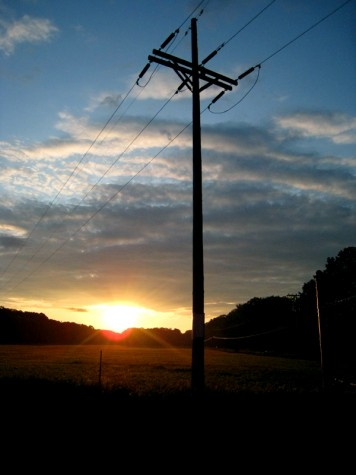 The sun rises over the field at the corner of Michillinda and Lamos in Muskegon County, Michigan.