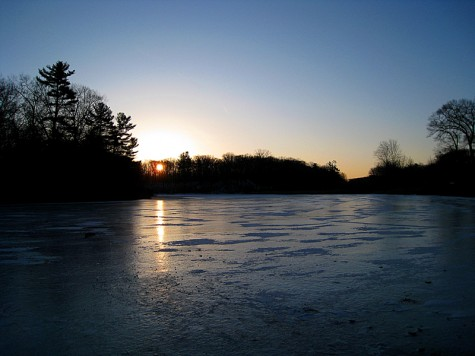 In spite of the cold, the beautiful sunrise lighting up the ice made the trip well worth making.