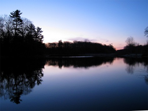 An early April morning at Muskegon's Ruddiman pond
