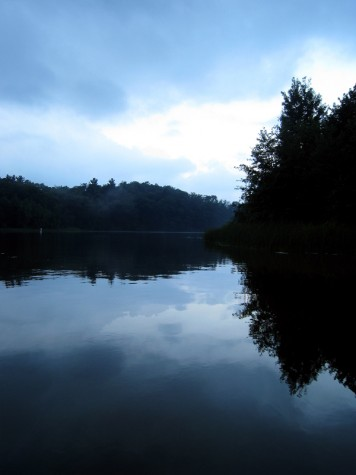Muskegon County's Duck Lake on the morning of August 13, 2011