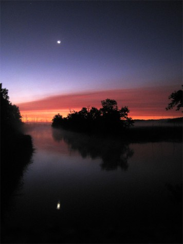 The Muskegon River on the morning of August 26, 2011