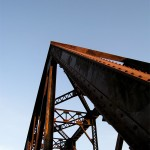 Muskegon River railroad bridge, November 5, 2011