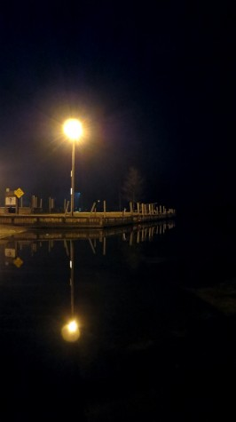 Boat launch in downtown Muskegon Michigan on January 12, 2012